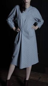 Kelso Dress - Blue/Rust