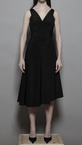 Amato Dress - Black Crepe