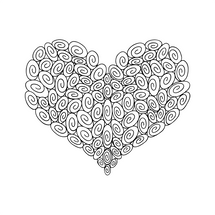 90 Swirl Heart : Love Collection : Fancy Print