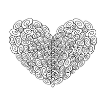 120 Swirl Heart : Love Collection : Fancy Print