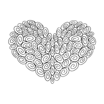 75 Swirl Heart : Love Collection : Fancy Print