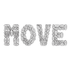 Get motivated to MOVE it! 25 swirls per letter. You're 100 small actions away from your goal!