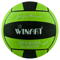 WINART SIZE 5 WATER POLO BALL, LIME/BLACK/LIME