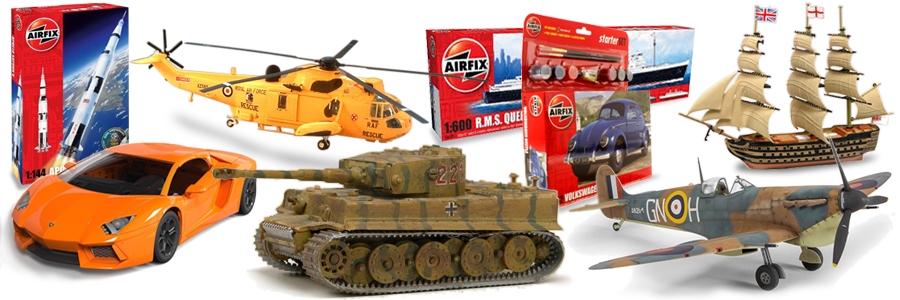 Airfix, Linberg, Revell, Trumpeter Plastic Model Kits