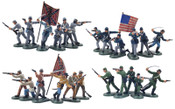 Britains Super Deetail Plastics 52006 - Store Display Box American Civil War Foot No.2, (48) Painted Figures Metal Base