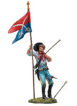 Black Hawk 102 - Custer's Last Stand, U.S. Standard Bearer 7th Cavalry Painted Metal Toy Soldier 1/32 Scale