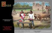 Pegasus 7005 - 1/48 California Mission Indians Set #2 (5 w/4 Oxen, Cart, Plow) Plastic Figures