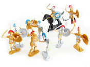 Best Value Toy Soldiers 22 - Roman Trojan Infantry Playset Figures 12 Pieces Painted Plastic 1/32 Scale