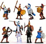 Best Value Toy Soldiers 26 - Alexander the Great Warriors Playset 8 Figures 2 Horses Painted Plastic 1/32 Scale
