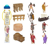 Safari Toob 660304 - Ancient Rome Roman Colosseum Playset (12) Painted Plastic Figures