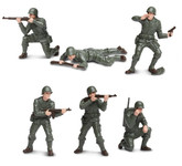 Safari Toob 678604 - WWII US Army Infantry Playset Painted Plastic Figures (6)