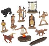 Safari Toob 680304 - Powhatan Indians Pocahontas Playset Painted Plastic Figures (12) Colonial Jamestown