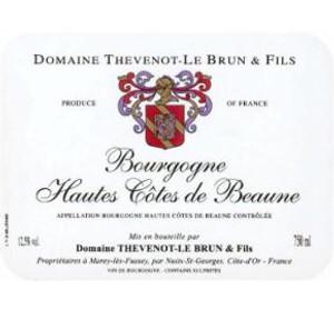 Domaine Thevenot Hautes Cotes de Beaune Bourgogne