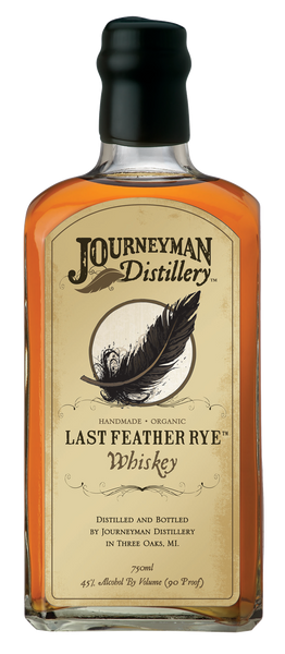 Journeyman Last Feather Rye Organic Whiskey