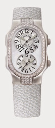 Philip Stein - Snow White Stainless Steel case with Full-cut diamonds. 1.64 carat