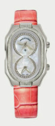 Philip Stein - Small Case, Infinite white diamond, Pink Alligator