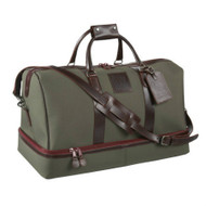 ProRider Zip Duffel Bag - Olive with Burgundy Leather trim