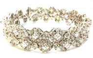Monique Creations, NYC - Double Diamond Bangle Bracelet