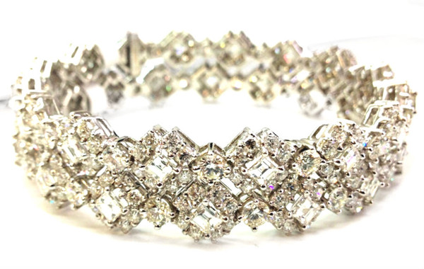 Monique Creations NYC Double Diamond Bangle Bracelet PRICE
