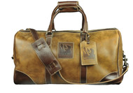 Red Scarf - Leather Cowboy Duffle