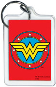"""DC Comics Wonder Woman Logo 3"""" x 2"""" Officially Licensed Lucite Double Sided Keyc"""