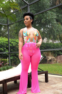 Candy Mesh Pants Hot Pink