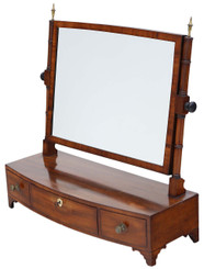 Antique quality Georgian Regency mahogany dressing table swing mirror toilet