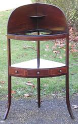 Antique Georgian inlaid mahogany washstand table