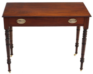Antique Victorian C1900 walnut side writing occasional table desk