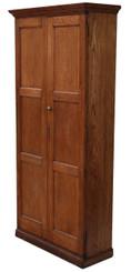 Antique Victorian oak hall housekeeper's kitchen bookcase larder cupboard