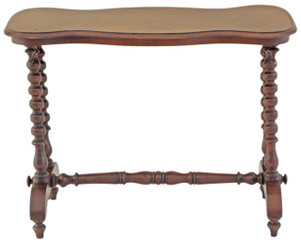 Antique Victorian walnut side writing occasional table