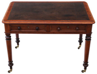 Antique Regency C1825 mahogany writing table desk