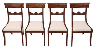 Antique set of 4 mahogany Regency / William IV dining chairs