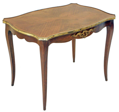 Antique large French kingwood and ormolu tea side table