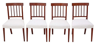 Antique set of 4 mahogany 19th Century dining chairs