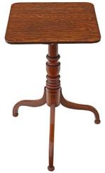 Antique Georgian oak side wine table occasional