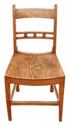 Antique elm 19th Century Suffolk kitchen dining desk side chair