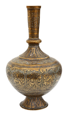 Antique early 20th Century Eastern brass vase