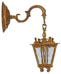 Antique brass ormolu lantern style wall light FREE DELIVERY