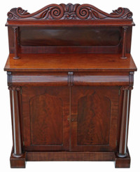 Antique quality Regency Victorian C1825-1840 mahogany sideboard chiffonier