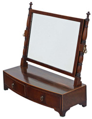 Antique quality Regency Georgian mahogany dressing table swing mirror toilet