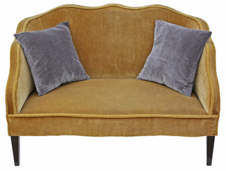 Antique quality Edwardian small sofa chaise longue