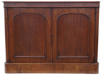 Antique large Victorian mahogany sideboard chiffonier cupboard
