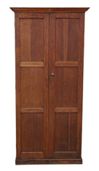 Victorian oak hall housekeeper's kitchen bookcase larder cupboard