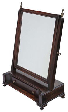 Antique quality Georgian C1810 mahogany dressing table swing mirror toilet