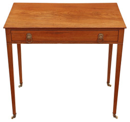 Antique Victorian C1850 inlaid mahogany writing desk or dressing table