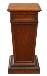 Antique gothic revival oak pedestal stand column
