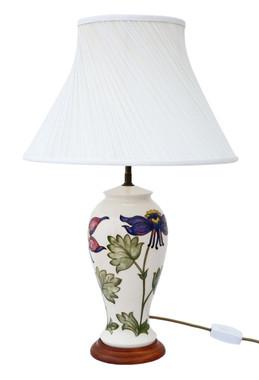 Antique quality ceramic moorcroft table lamp with shade prior antique quality ceramic moorcroft table lamp with shade aloadofball Images