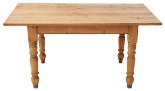 Antique pine scrub top farmhouse kitchen dining table