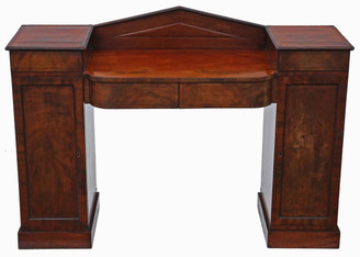 Antique small Georgian / Regency flame mahogany sideboard chiffonier